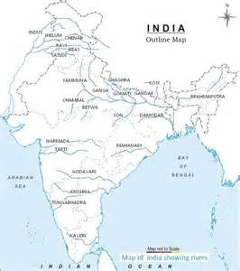 river map india river map with names