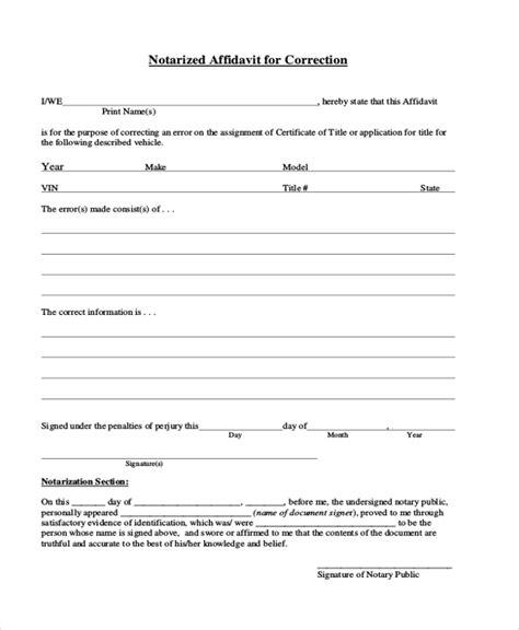 general affidavit 8 sle general affidavit forms sle exle format