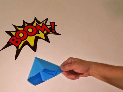 How To Make An Origami Paper Popper - origami how to make origami paper popper bomb how to