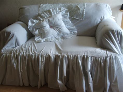 shabby chic couch slipcovers items similar to shabby chic couch slipcover throw on etsy