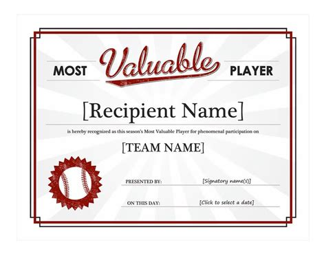 Baseball Award Template baseball award template baseball award templates