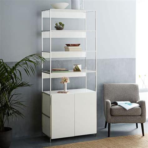lacquer storage bookshelf cabinet 33 quot west elm