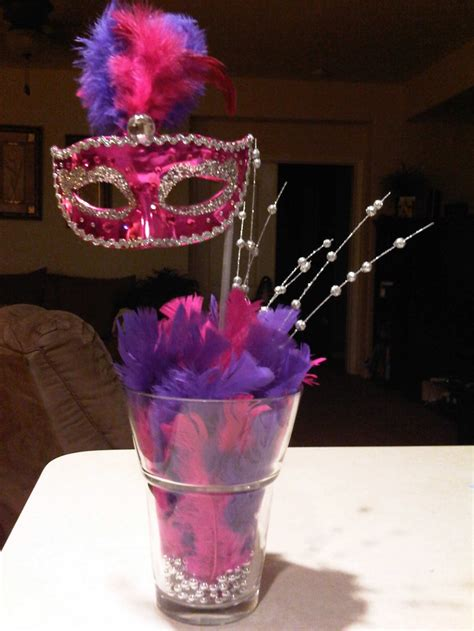 sweet sixteen centerpiece ideas masquerade centerpieces for cake ideas and designs