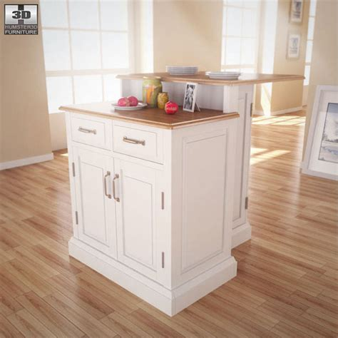 woodbridge two tier kitchen island 3d model humster3d