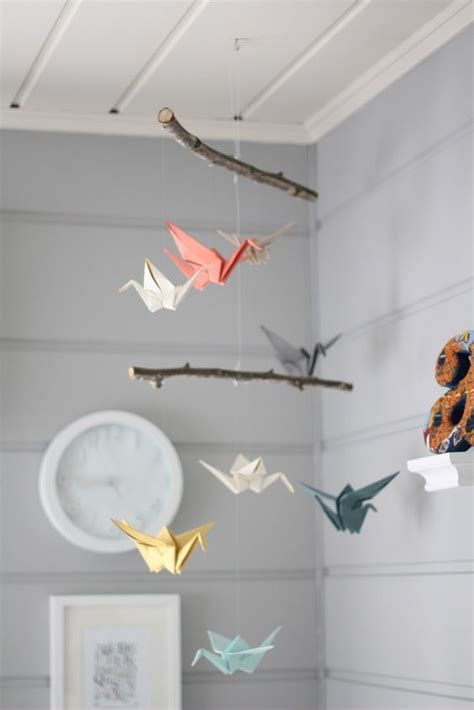 Origami Bird Mobile - mobiles origami and origami birds on