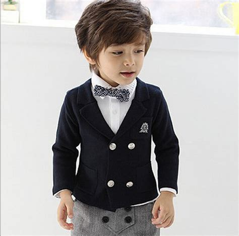 Set Mj Boy Blezer 3in1 2015 and autumn boys blazers solid child
