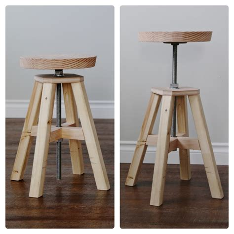 diy height adjustable desk ana white adjustable height wood and stool diy