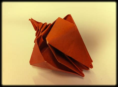 How To Make Paper Shells - 166 best images about origami on paper