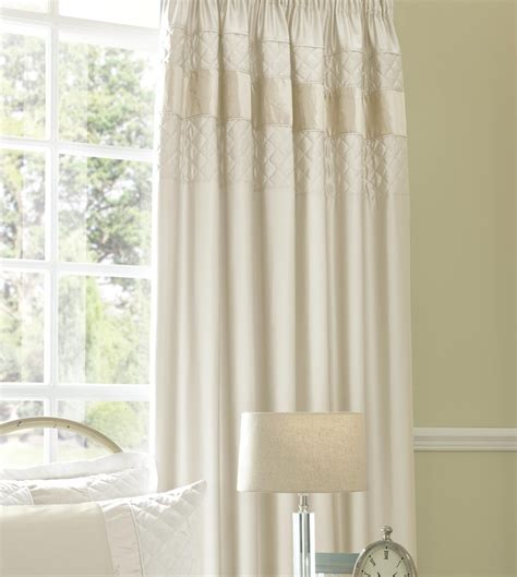 Classique Cream Pencil Pleat Curtains 66x72