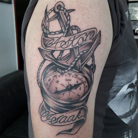 48 best anchor compass tattoos