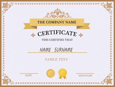 template for certificate certificate template design vector free
