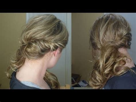 side curly hairstyles youtube loose side swept curly hair youtube
