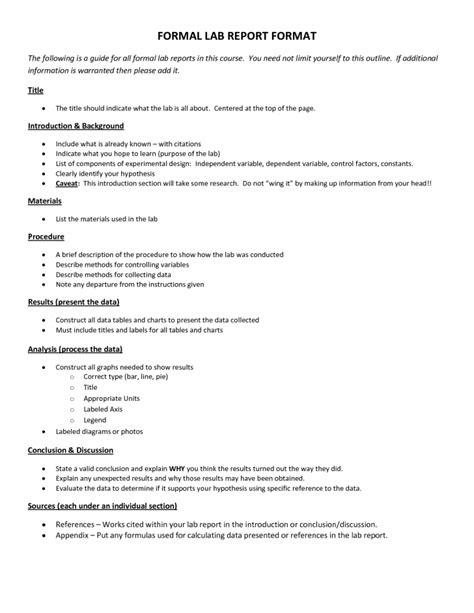 Formal Lab Report Template Word Scientific Data 7 Formal Lab Report Template Formal
