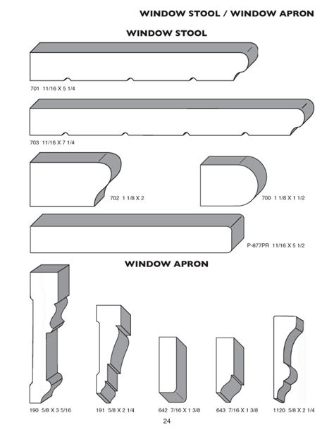 Window Sill Profiles Moulding Profile Catalog Products Pioneer Millwork