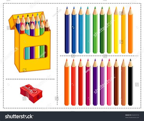 vivid colored pencil vector colored pencil set big box of pencils in 20 vivid pastel colors with pencil