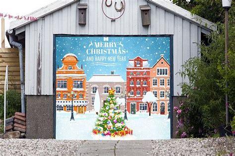 merry christmas garage door cover 22 best garage door covers images on carriage doors garage doors and banner