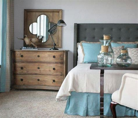 Turquoise Grey Bedroom by Turquoise Grey Wood Bedroom Bedrooms