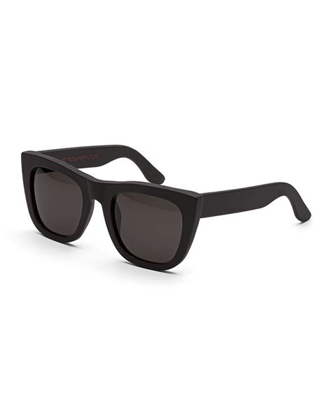 Thick Frame Sunglasses lyst retrosuperfuture gals thick frame sunglasses in black