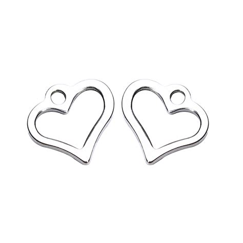 Steel 11mm Stainless Stell Jpn 100pcs 100pcs lot stainless steel 11 11mm silver charms for necklace bracelet hollow floating
