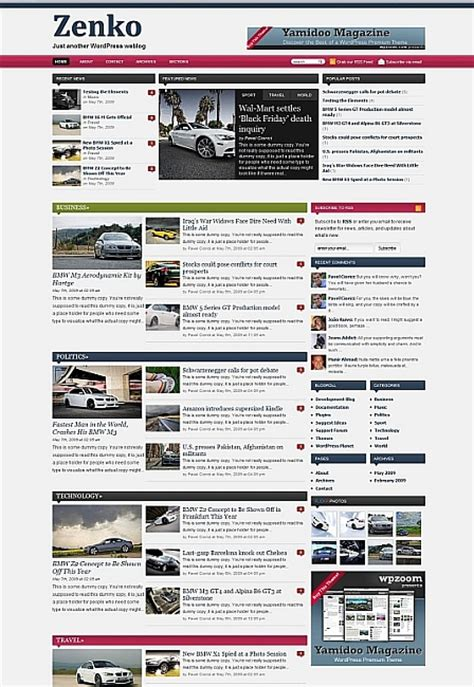 free wordpress themes newspaper magazine wordpress magazine templates