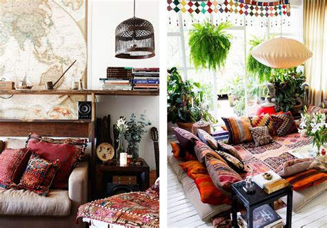 contemporary interior design with exotic bohemian touch bohemian apartment plants bookterence conran decorating