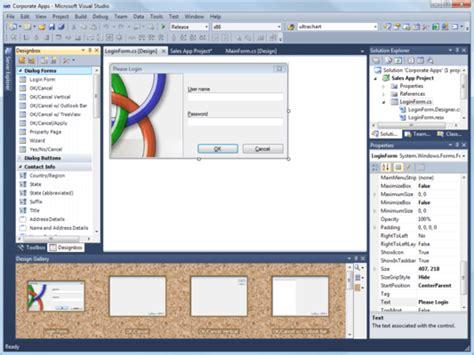 design form in visual studio designbox for visual studio screenshots