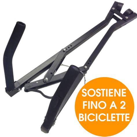 porta biciclette auto portabici per 2 biciclette nero universale porta