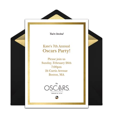 official academy awards invitation infoinvitation co