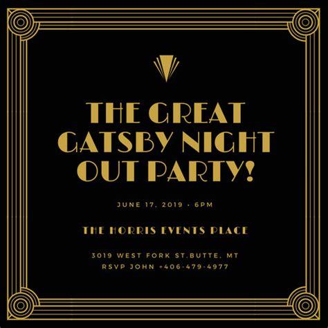 Customize 202 Great Gatsby Invitation Templates Online Canva Great Gatsby Invitation Template