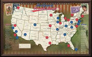 Baseball Usa Map usa baseball push pin map framed and personalized from