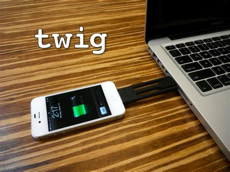 Twig Tripod Ultra Portable Lightning Cable For Iphone 55sse Yell twig ultra portable sync charging cable for iphone gadgetsin