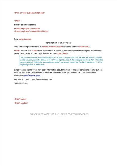 probation termination letter premium templates