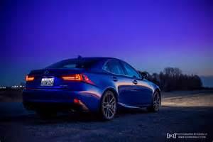 Blue Lexus Ultrasonic Blue Lexus Is F Sport At Dusk For Your Desktop