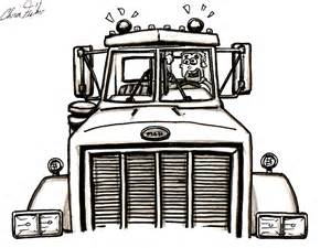 semi truck drawings images