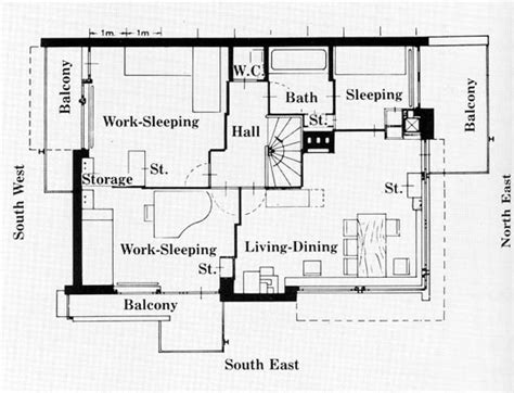 rietveld schroder house floor plans schroder house de stijl pinterest house