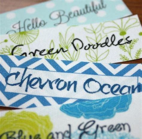printable fabric labels custom printed fabric labels more crafts pinterest