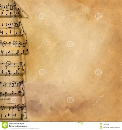 background design border old background with musical border for design stock
