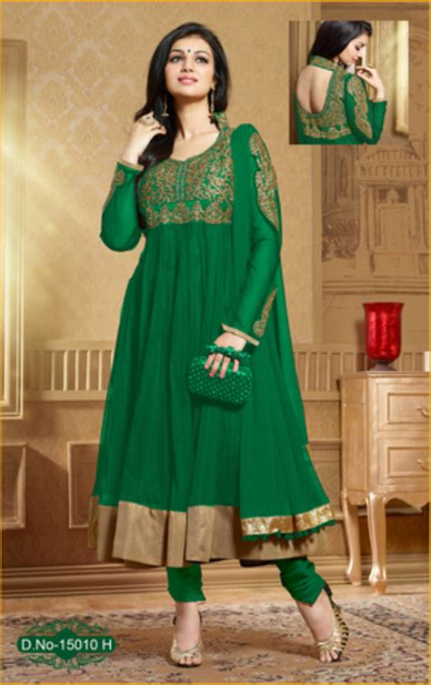 net pattern salwar suit buy green embroidered net semi stitched salwar with