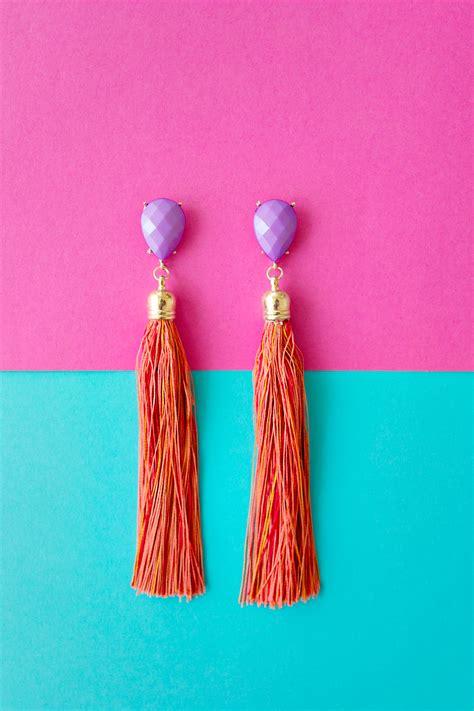 how to make tassels for jewelry diy tassel earrings jewelry