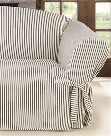 ticking stripe slipcovers sure fit ticking stripe loveseat slipcover slipcovers