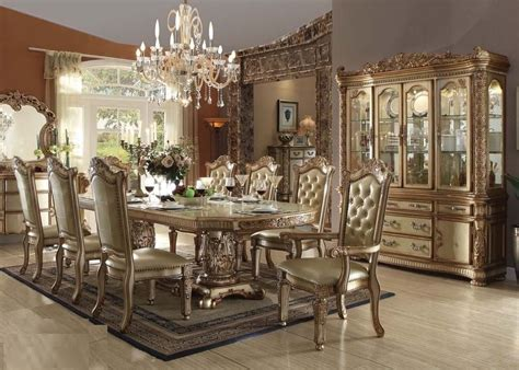 traditional vendome dining set acme 63000 sectionals