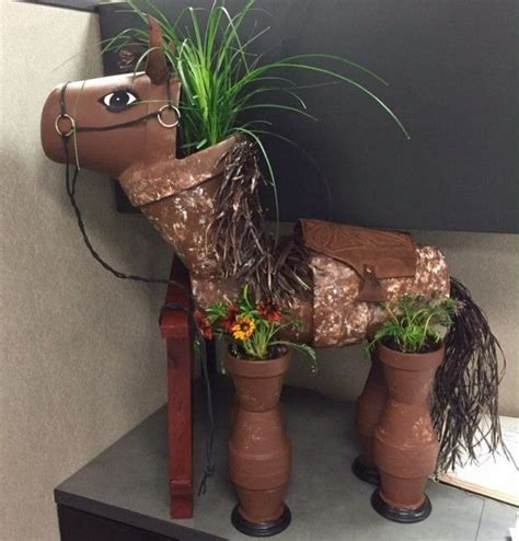 Yarn Cabinet Decorate Your Garden By Making This Clay Flower Pot Horse
