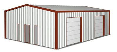 Pole Barn Design Ideas Metal Building Clipart