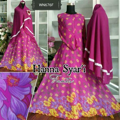 Gamis Humaira Monalisa Aplikasi Renda Cantik baju gamis sifon syar i motif bunga cantik murah
