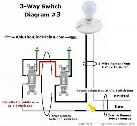 wiring diagrams for 3 way switches