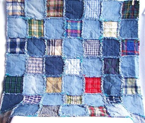t shirt rag quilt pattern using unwanted recycled jeans and fabrics you can create
