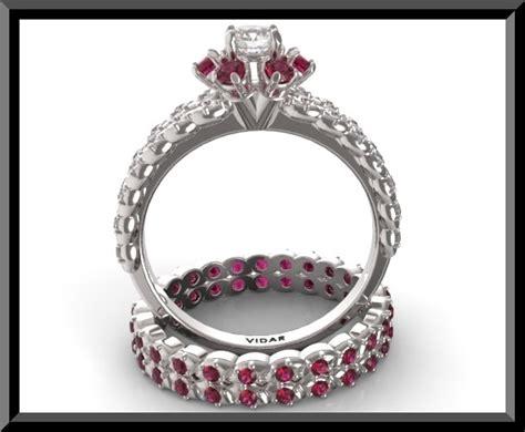 ruby wedding ring set vidar jewelry unique custom