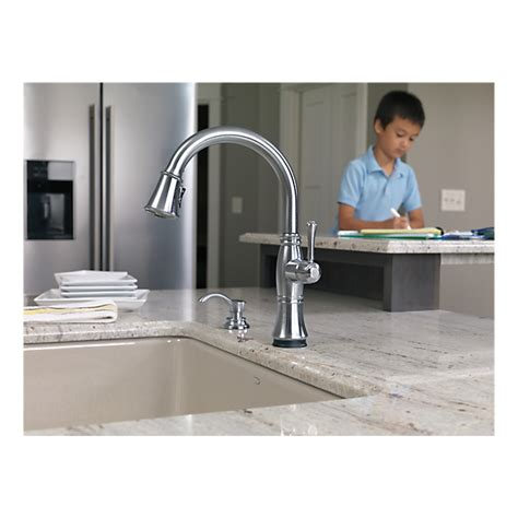 delta faucet 9197t dst cassidy single handle pull down 9197t ar dst single handle pull down kitchen faucet with