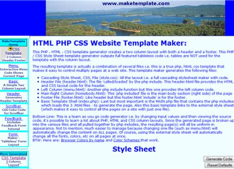generate html template top 10 template generators for blogs and websites
