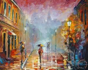 leonid afremov november rain painting november rain